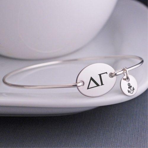 Custom sorority bracelet from Birthstone Design