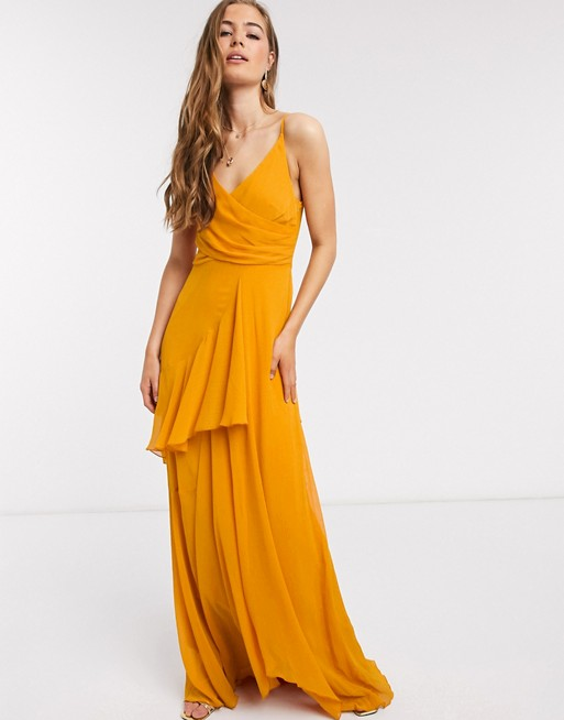 soft orange maxi dress