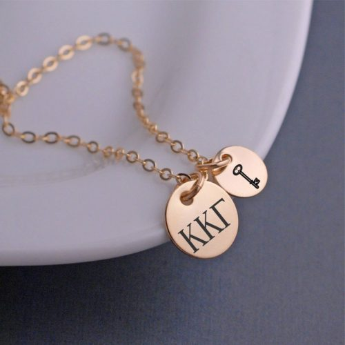 Custom sorority necklace from Birthstone Design