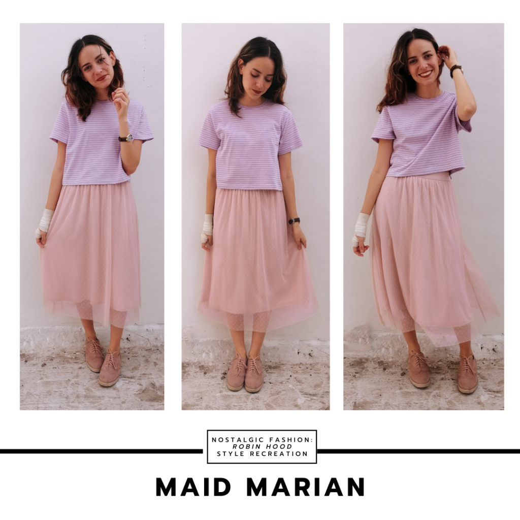 Disneybound Maid Marian outfit inspired by the 1973 Disney film -- pink