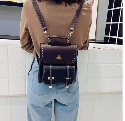 vintage bee backpack