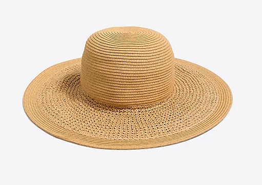 Small rim straw sun hat