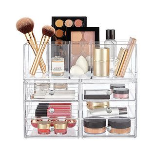 Makeup containers from The Container Store