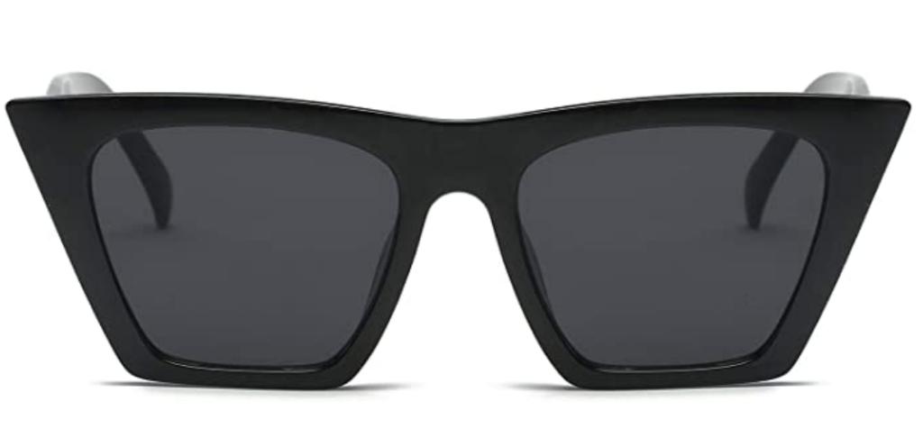 Black pointy cat eye sunglasses