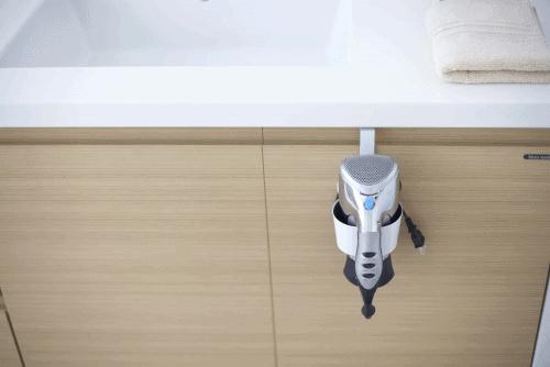 Dorm organization tips: Get a blow dryer holder | Yamazaki Home blow dryer holder