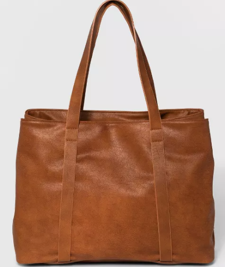 Triple Compartment Tote Handbag