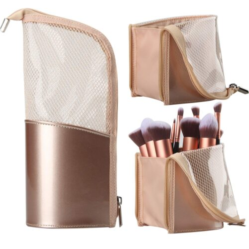Rose gold makeup brush holder makeup bag from Amazon