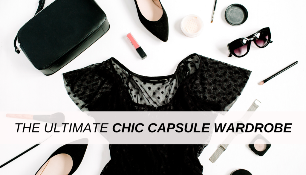 The ultimate chic capsule wardrobe to take you through social events, class, and work