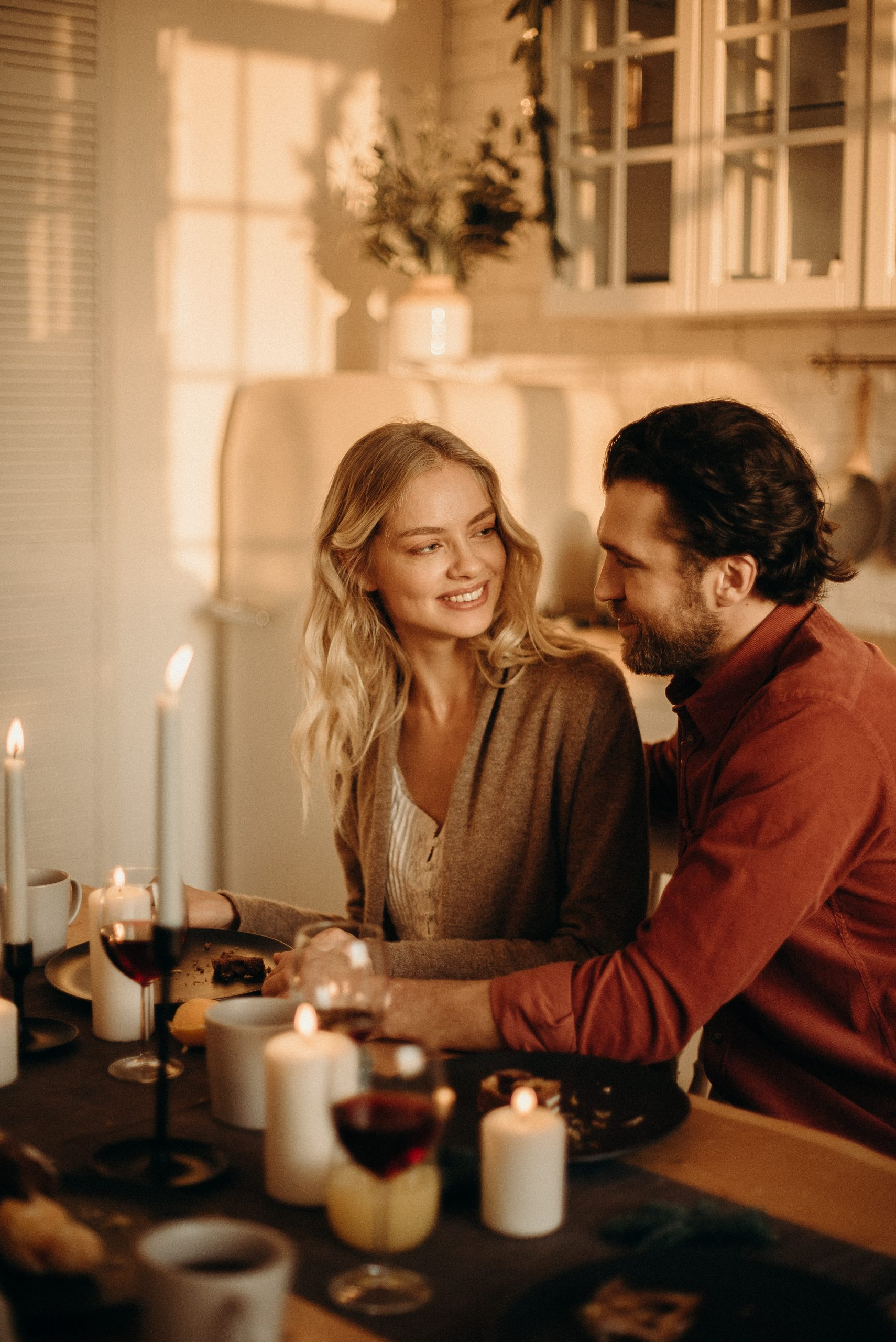 at home date ideas couple romantic dinner source: cottonbro from Pexels