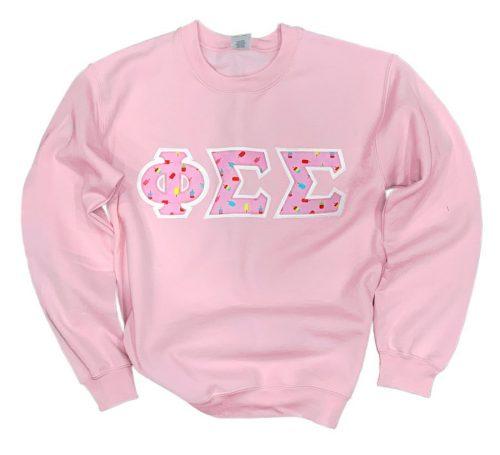 Custom sorority sweatshirt from Greek Gear