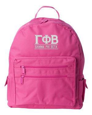 Custom sorority backpack from Greek Gear