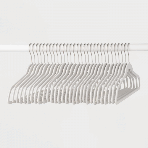 Best dorm organization tips: Get slimline hangers for your closet