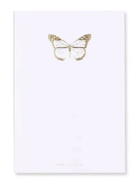 white butterfly journal