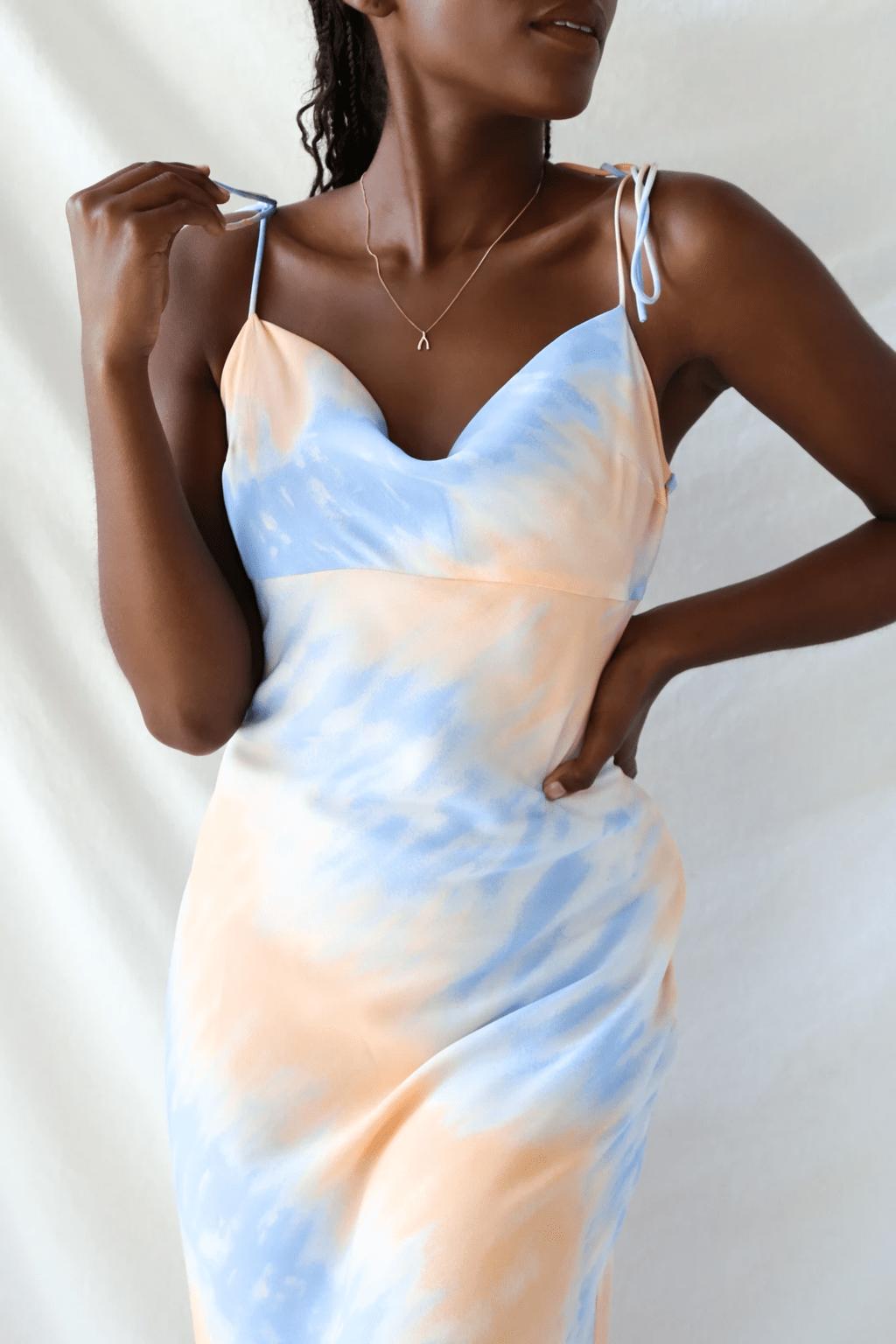 Lulus tie dye dress