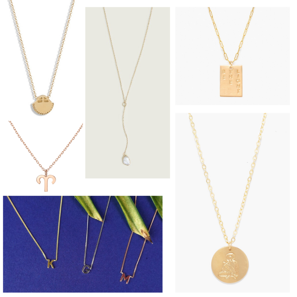 Pendant necklaces for everyday - gold zodiac necklaces, initial necklaces, customized pendants