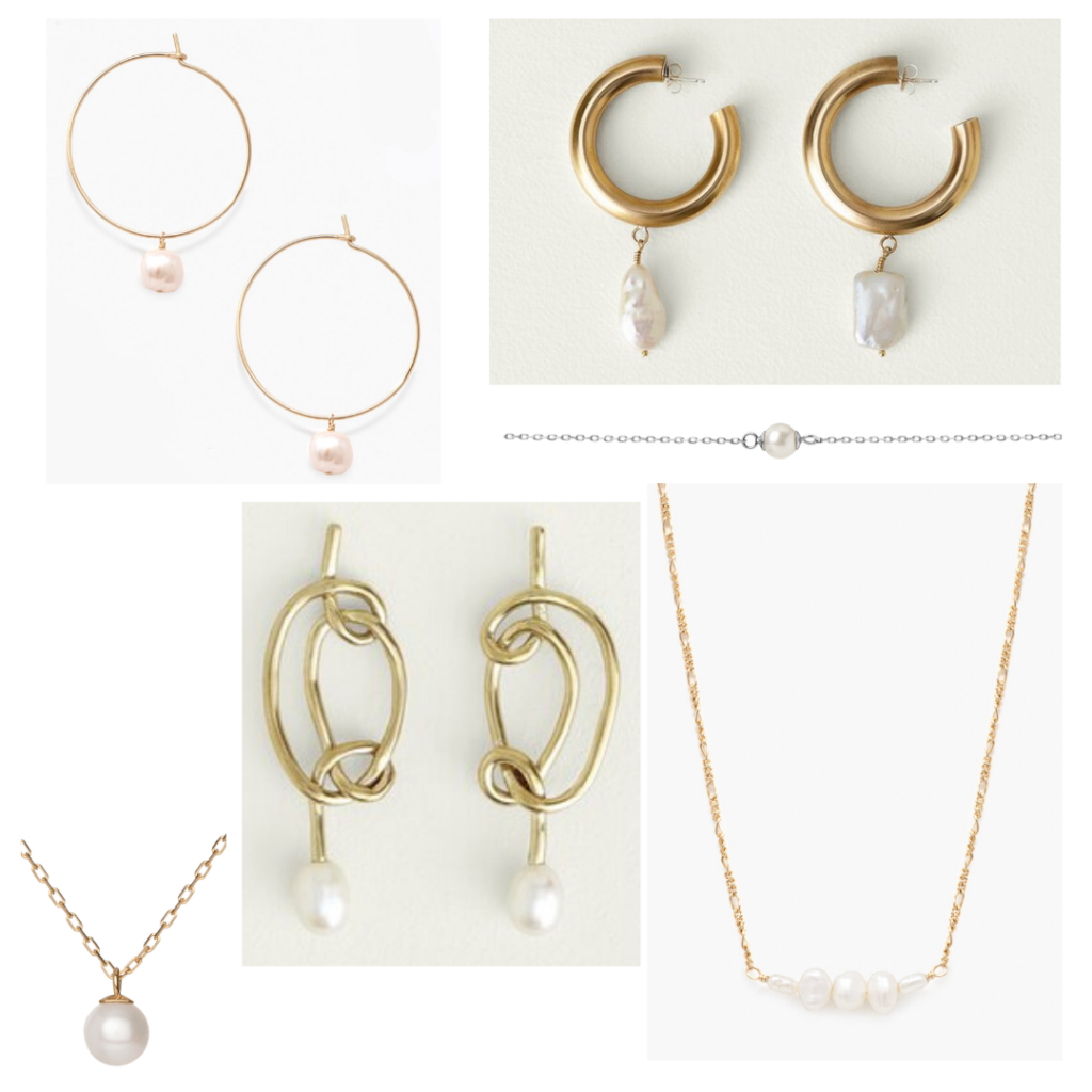 Timeless jewelry - roundup of pearl earrings and necklaces