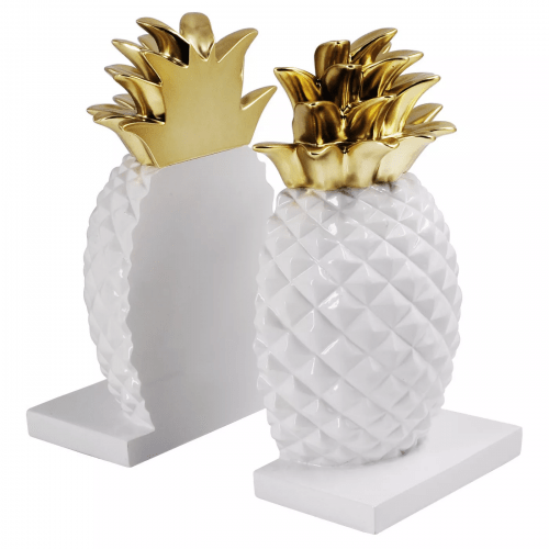Pineapple bookends from Target for dorm organization