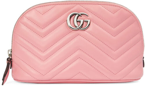 Pink Gucci makeup bag