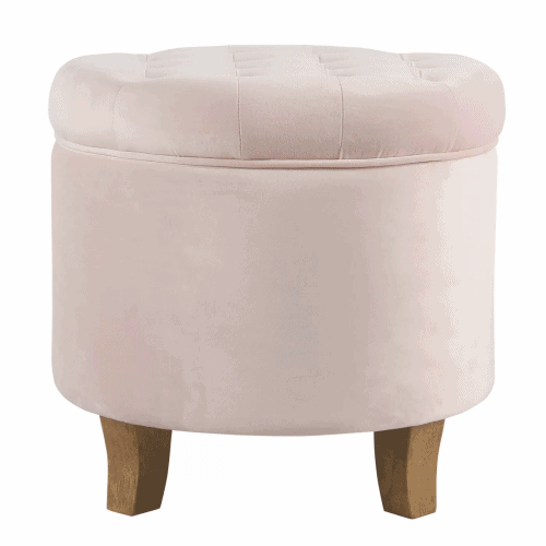 Dorm organization tips: Add a storage ottoman to your space | Pink storage ottoman from Target