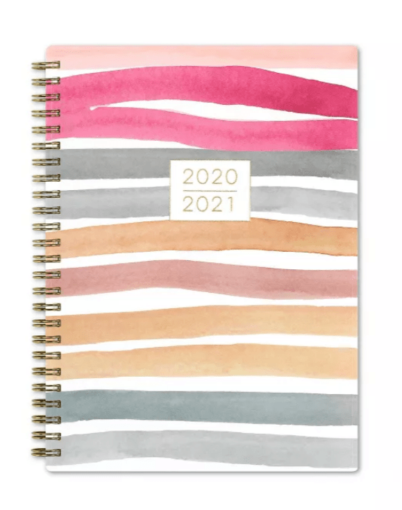 2020-2021 striped colorful planner from Target