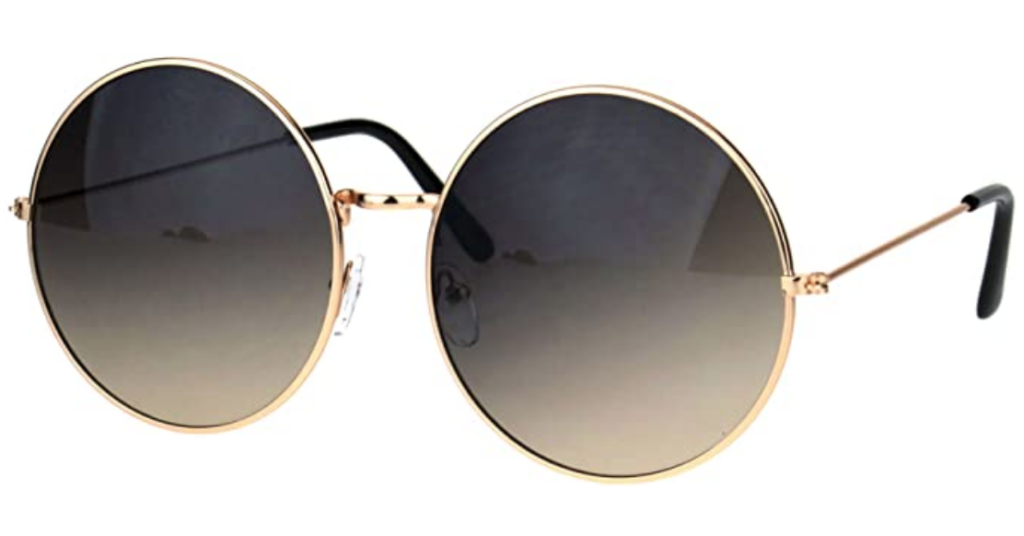 Round sunglasses in gold