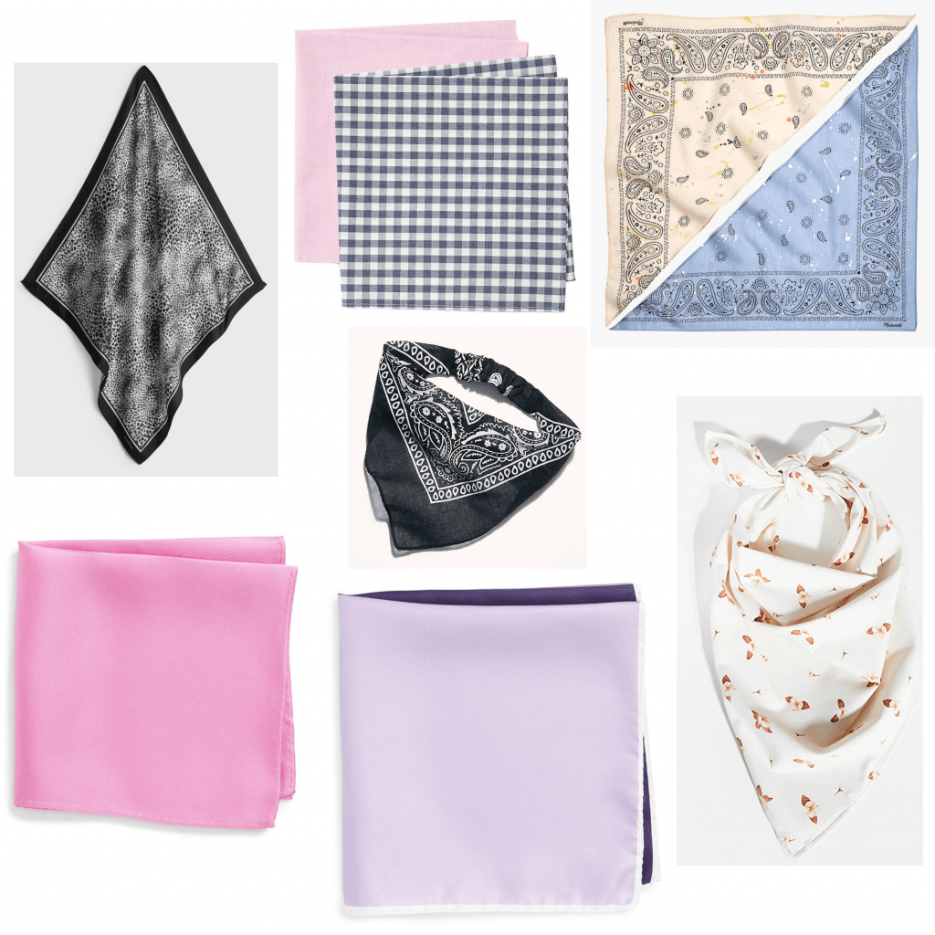 Our favorite beach accessories - roundup of bandanas and square scarves
