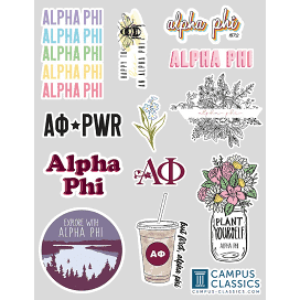 Custom sorority stickers from Campus Classics