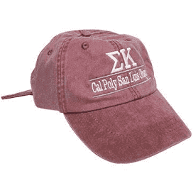 Custom sorority hat from Something Greek