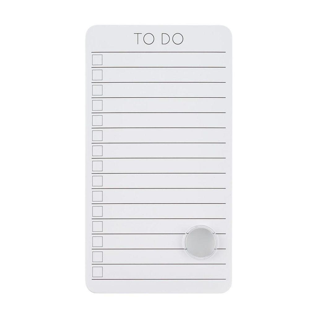 Dorm organization 101: Dry erase to do list