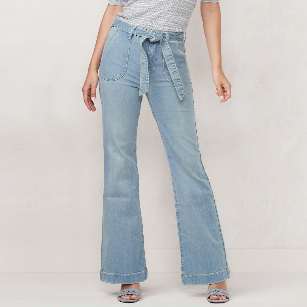 Chic capsule wardrobe essentials - vintage high-waisted flare jeans