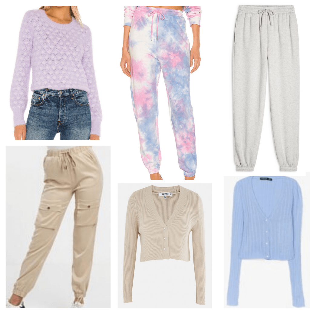 Sweats and sweaters to wear to the beach for evening