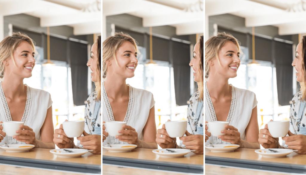 Photo of women having coffee