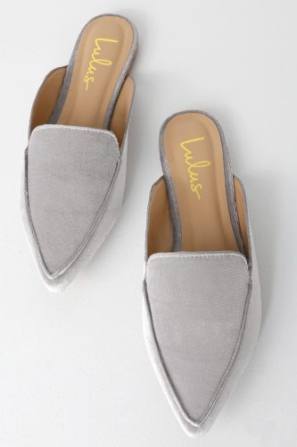 Lulus grey loafers