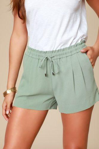 Lulus green shorts