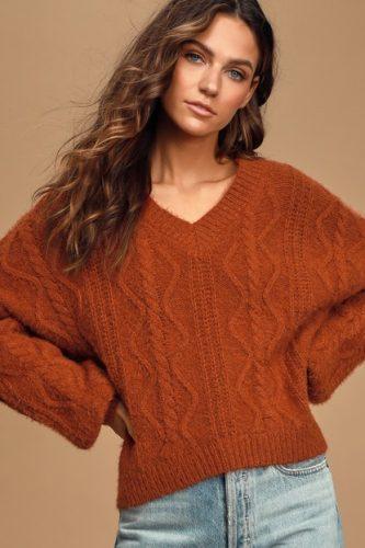 Lulus rust colored sweater