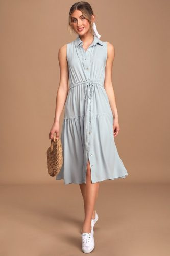Earth tone fashion guide: Lulus light blue dress
