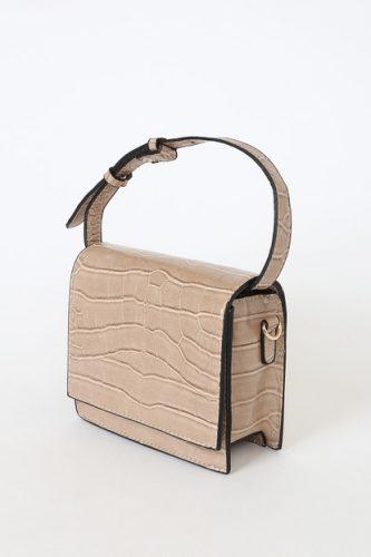 Faux snakeskin purse