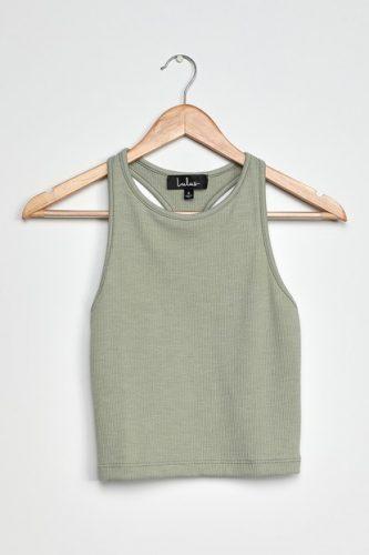 Earth tone fashion guide: Sage green tank