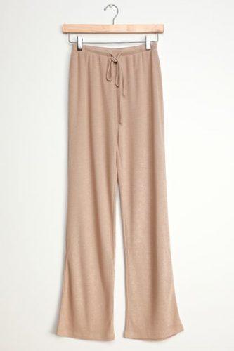Lulus beige wide leg pants
