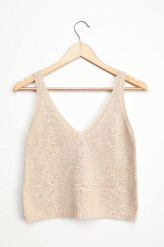 Beige knit top from Lulus