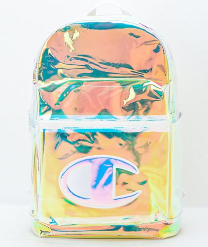 bright, iridescent Champion backpack