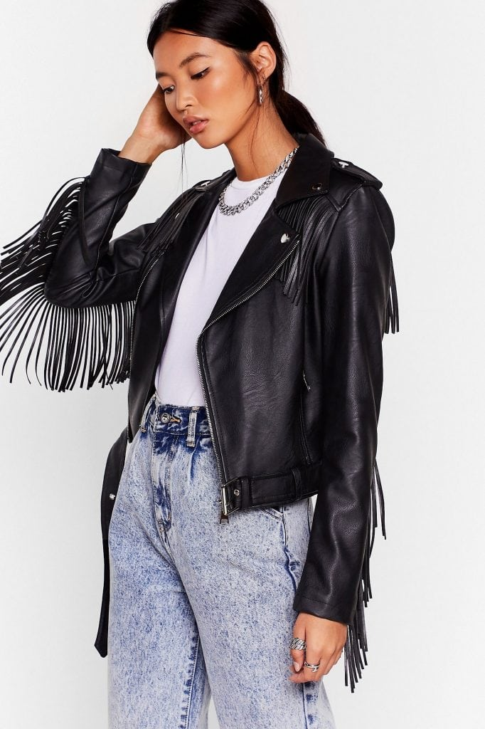 Product photo of a Nasty Gal moto jacket