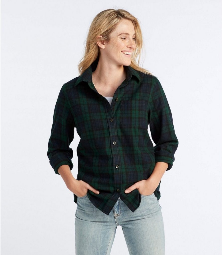 Product photo of an L.L. Bean flannel