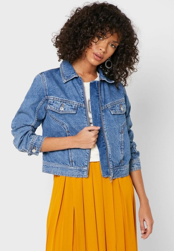 Fall jackets 2020 guide: Product photo of a Topshop denim jacket