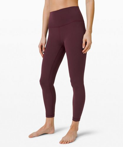 Earth tone fashion guide: Lululemon align pants in burgundy