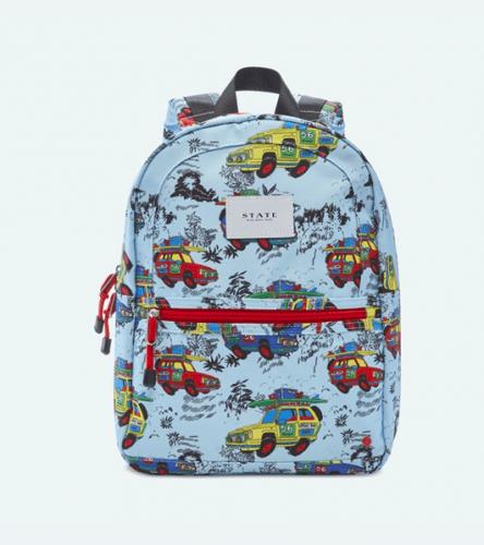 hawaiian cars patterned backpack