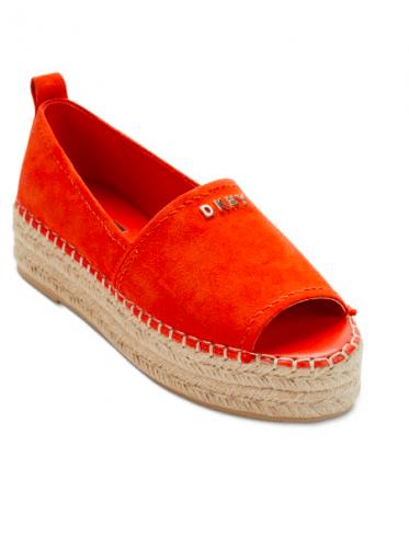 Orange espadrilles