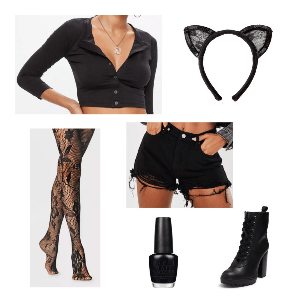 Black cat costume idea with accessories