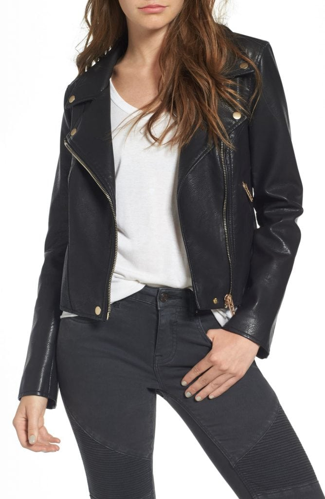 Edgy style must-haves: Blank NYC leather jacket