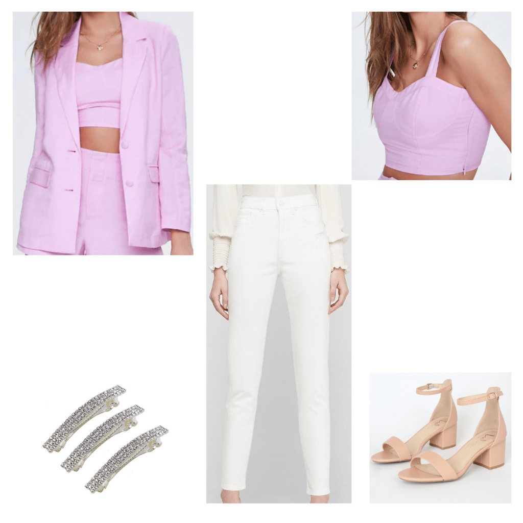 Blazer outfit with accessories